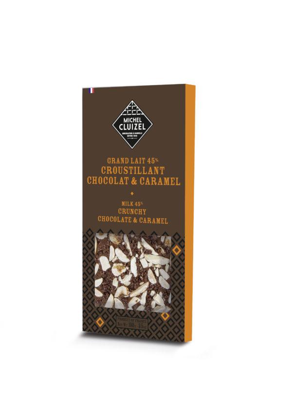 Milchschokolade knusprige Schokolade und Karamell