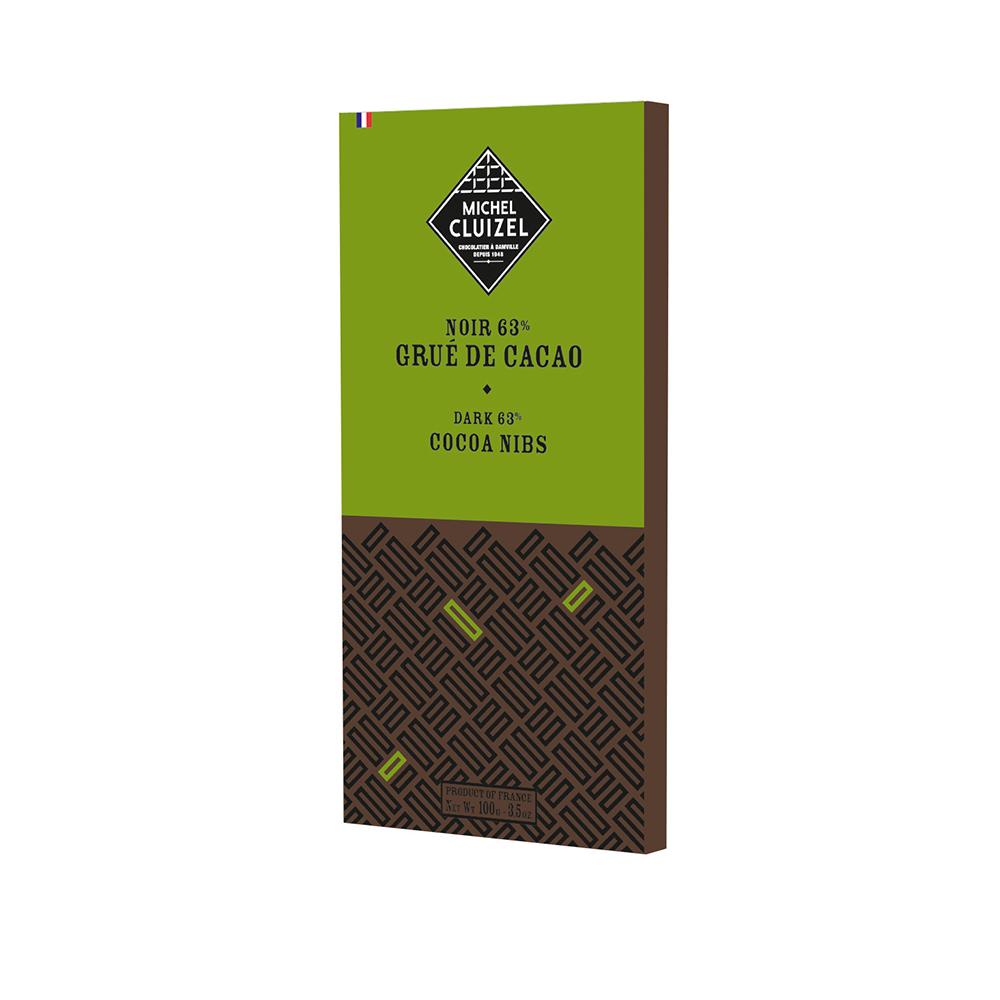 Bitterschokolade mit Kakaosplittern