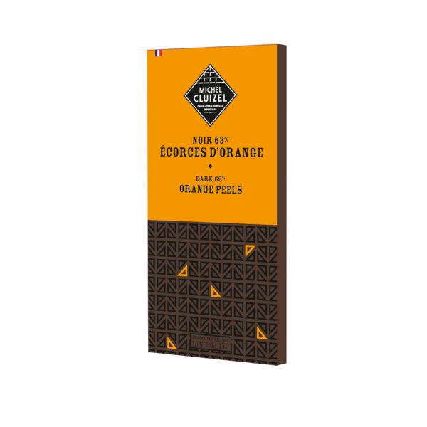 Bitterschokolade mit Orangenschalen