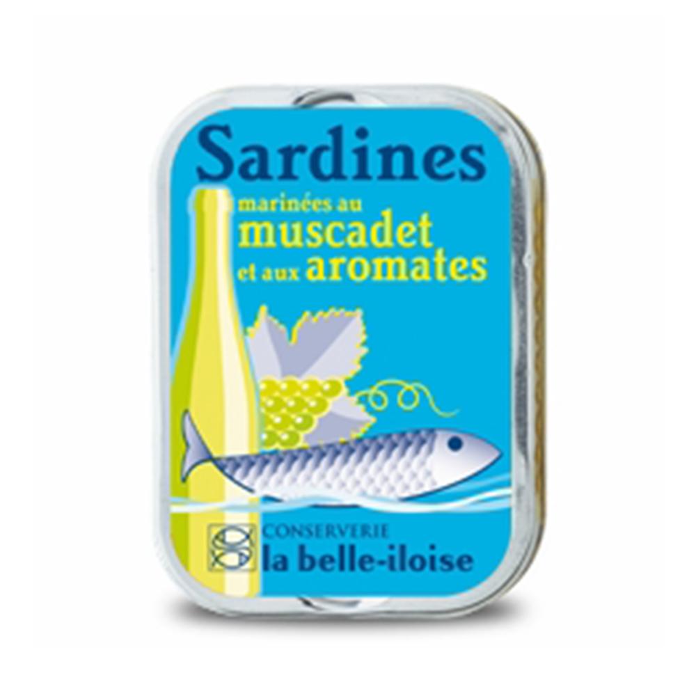 la belle iloise - Sardinen mit Weißwein und Aromen