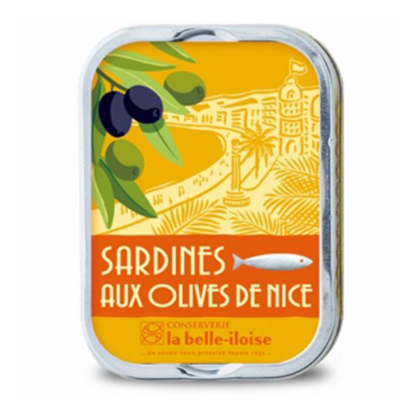 la belle iloise - Sardinen mit Nizza-Oliven