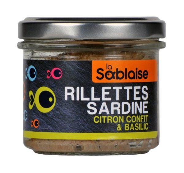 la sablaise - Sardinenrillette mit Zitrone und Basilikum