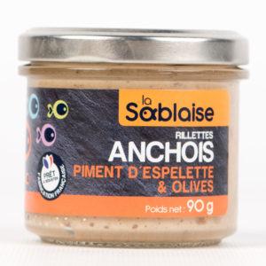 la sablaise - Anchovisrillette mit Piment d'espelette und Oliven