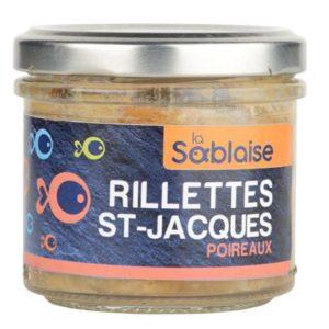 la sablaise - Rillette aus Schellfisch, Jakobsmuscheln und Porree