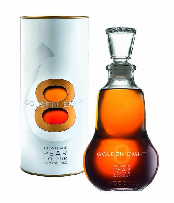 Likör Williamsbirne Golden Eight Distilleries Peureux Massenez